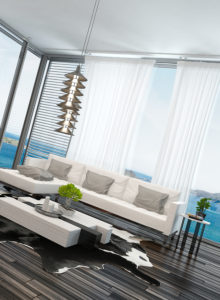 Modern living room decorated for relaxation